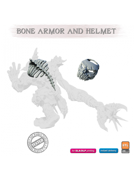 STL BONE ARMOR AND HELMET